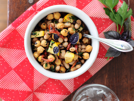 Five-Minute Super Bean Sun-dried Tomato & Basil Salad {Vegan, Gluten-Free}