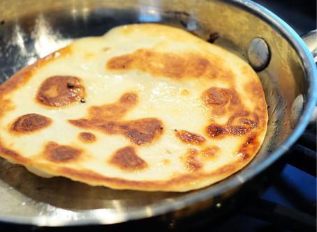 Fake Naan Bread {Easy, Vegan, 5-Minute}