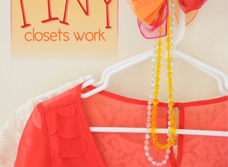 10 Real Life Ways to Make Tiny Closets Work