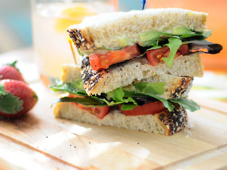 Quick and Easy Veggie Lunch Sandwich – My Current Favorite!