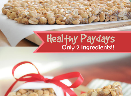 Healthy Paydays – Only Two Ingredients! {Vegan, Gluten-Free}