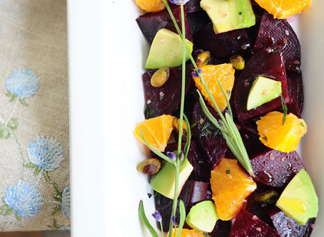 Roasted Beet, Avocado, and Orange Salad {Vegan, Gluten-Free}