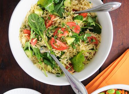 Light & Lemony Orzo Salad {Vegan}, Plus My Latest Spring Adventures