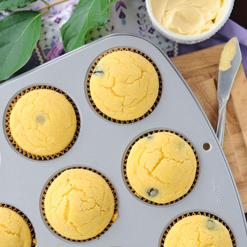 Blueberry-Corn-Muffins-with-Whipped-Mapl