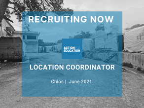 Location Director Chios, Action for Education Job Description - June 2021