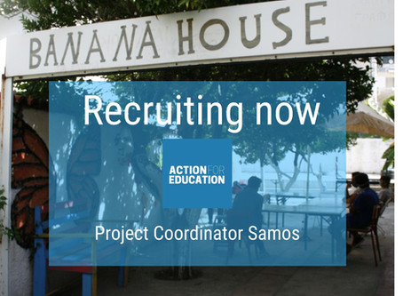 We are recruiting a female project coordinator on Samos