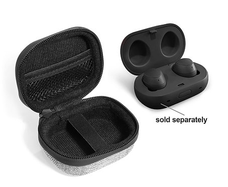 Protective Earbud Case for Samsung Galaxy Buds (tweed gray & black)