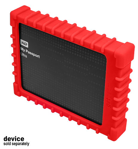 Silicone Bumper for WD Elements/My Passport Ultra External Hard Drive (red)