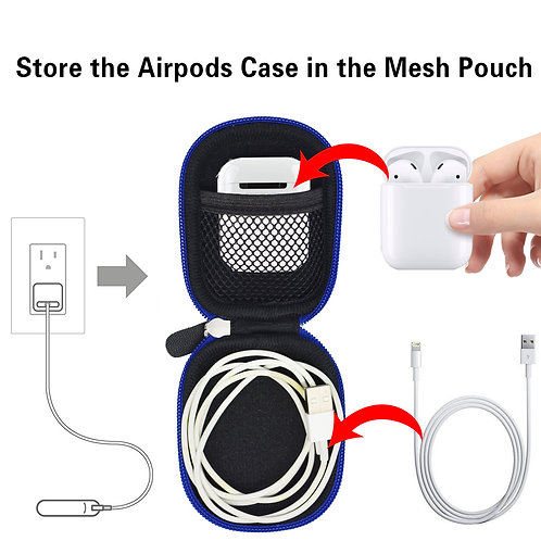 Earbud Protective Case (Black/Royal)