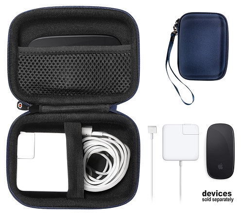 Apple Macbook Air Charger + Magic Mouse Case (dark blue)