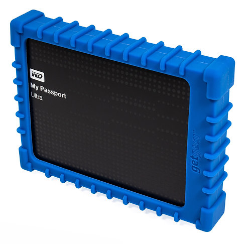 Silicone Bumper for WD Elements/My Passport Ultra External Hard Drive (blue)