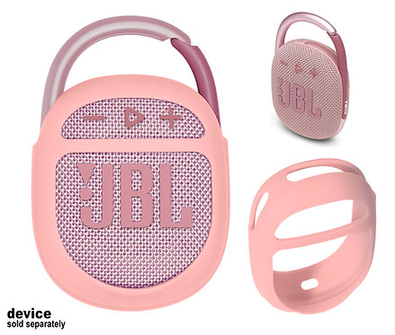 Silicone Bumper for JBL Clip 4 Bluetooth Speaker (pink)