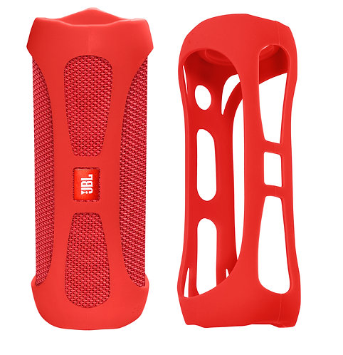 Silicone Bumper for JBL FLIP 4 Bluetooth Speaker (red)
