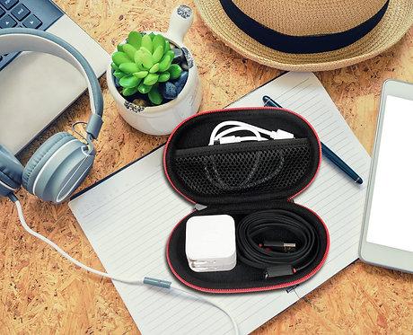 BeatsX Headphone Case (Black w/ Red Zipper)