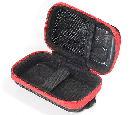 AGPTek Protective MP3 Case Black with Red Zipper