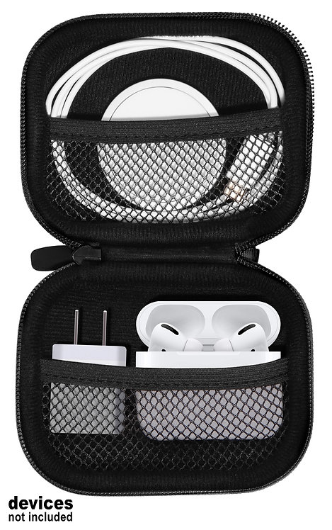 Case for Apple devices: Wireless Charger, Airpods Pro, wall plug (black)