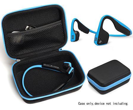 Bone Conduction Headphones Case (Black w/ Blue Zipper)
