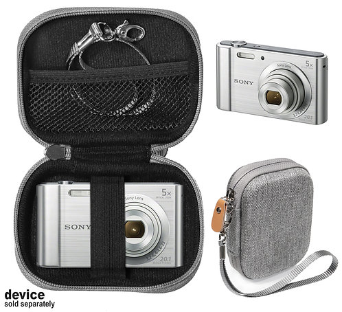 Protective case for Sony DSC-W800 Digital Camera (gray tweed)