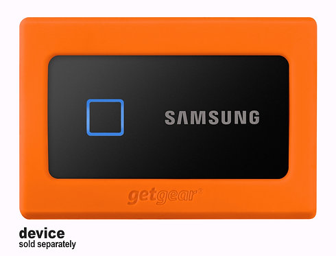 Silicone Bumper for Samsung Portable SSD T7 (orange)