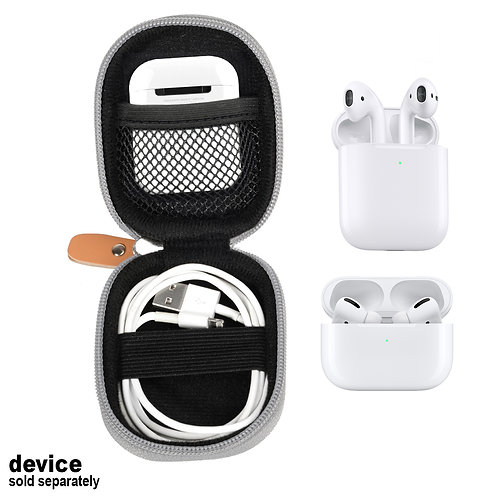 Protective Case for Apple Airpods/Airpods Pro (tweed gray)