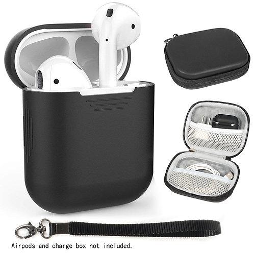 Airpod Case & Skin Combo (Black)