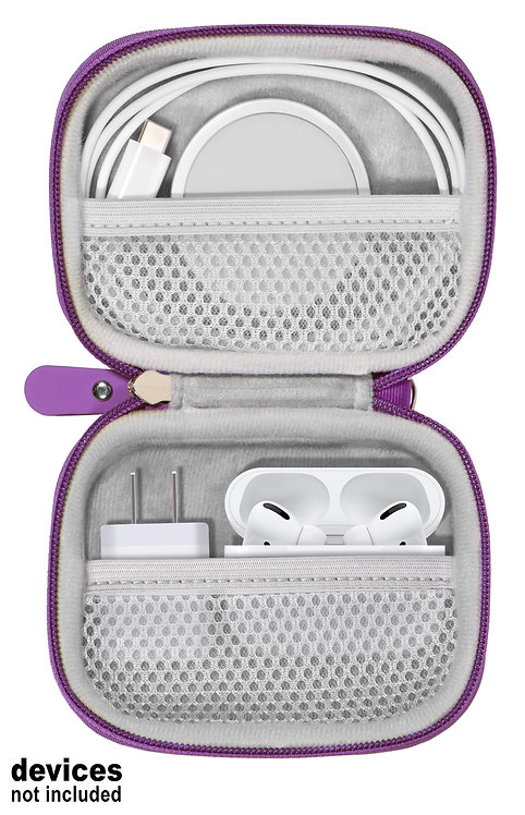 Case for Apple devices: Wireless Charger, Airpods Pro, wall plug (purple)