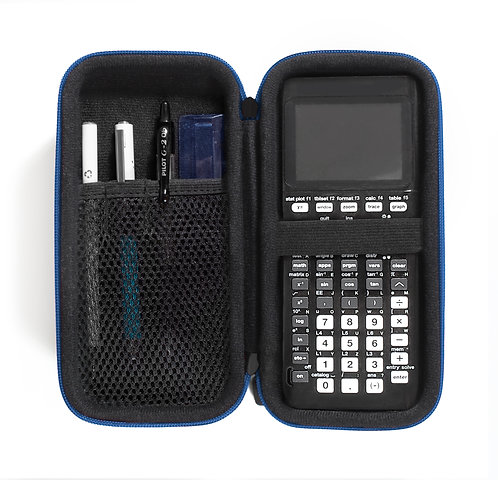 Protective Calculator Case (blue trim)