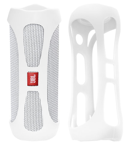 Silicone Bumper for JBL FLIP 4 Bluetooth Speaker (white)