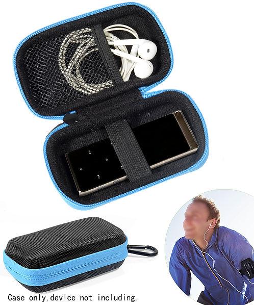 AGPTek Protective MP3 Case Black with Blue Zipper