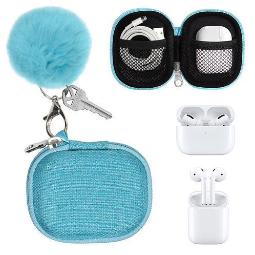 Fun and Stylish Protective Case for Apple AirPods Pro/Apple AirPods (blue)
