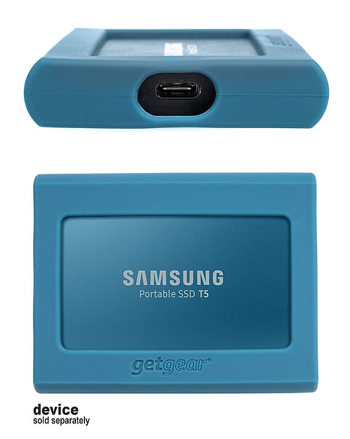 Silicone Bumper for Samsung SSD T5 - blue