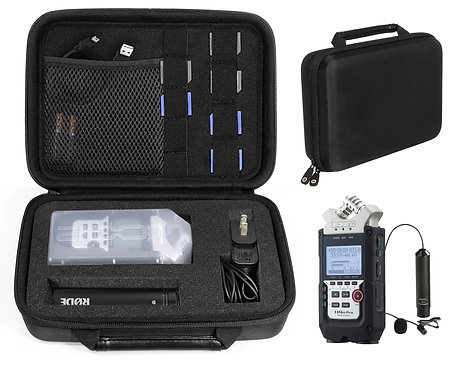 Protective Case for Zoom Recorder for  H4N, H6, etc. (black)