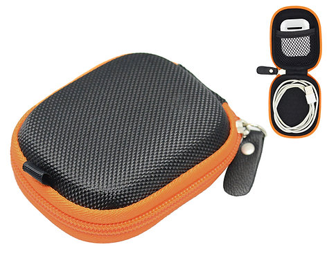 Earbud Protective Case (Black/Orange)