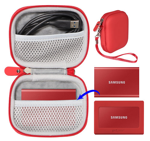 Protective Case for Samsung T7 Touch Portable SSD (red)