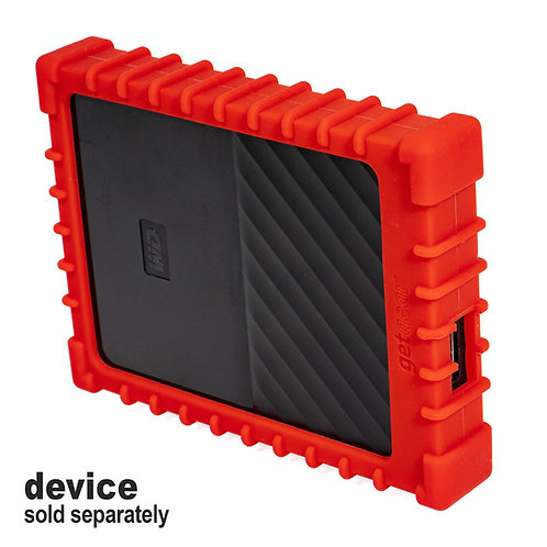 Silicone Bumper for WD My Passport External Hard Drive (red)