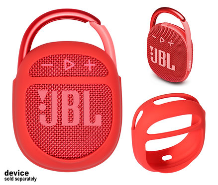 Silicone Bumper for JBL Clip 4 Bluetooth Speaker (red)