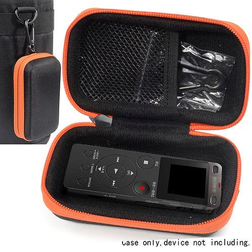 Voice Recorder Case (Black w/ Orange Zipper)