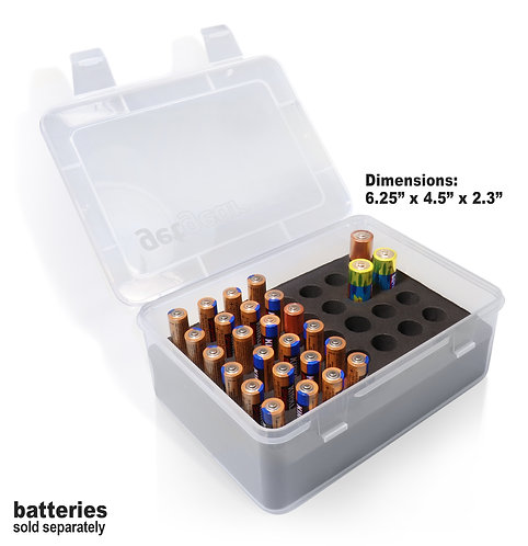 Clear Battery Storage Case (small)