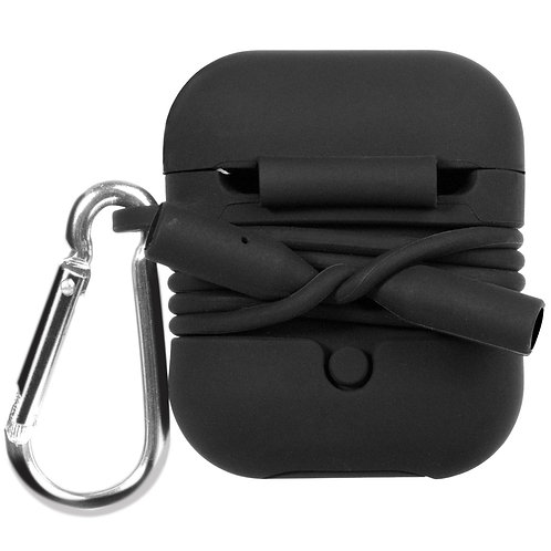 Airpod Case with Security Strap (Black)