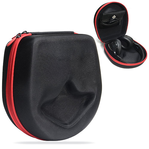 Specialty Headphone Case (Black/Red Zipper)