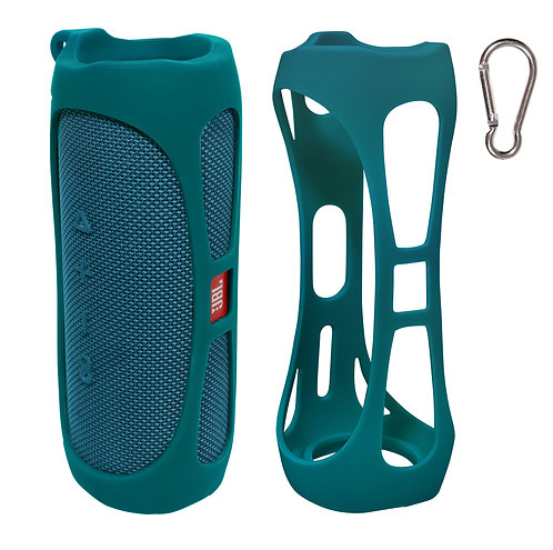 Silicone Bumper for JBL FLIP 5 Bluetooth Speaker (teal)