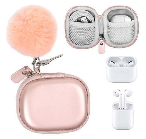 Fun and Stylish Protective Case for Apple AirPods Pro/Apple AirPods (rose gold)
