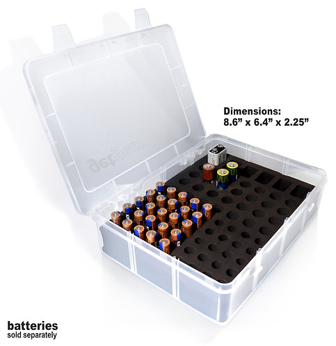 Clear Battery Storage Case (large)