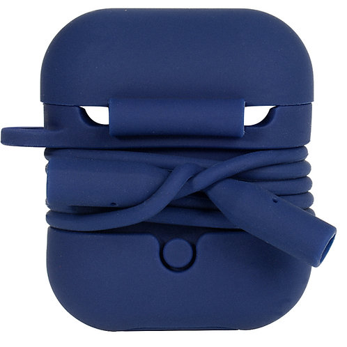 Airpod Case with Security Strap (Navy)
