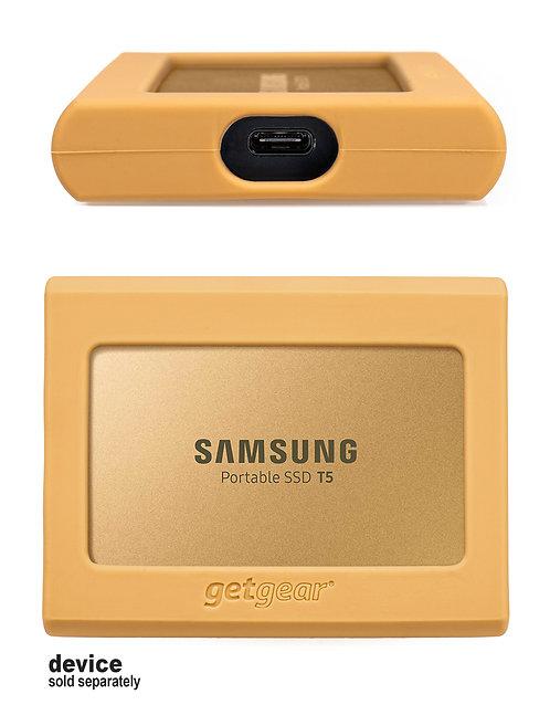 Silicone Bumper for Samsung SSD T5 - gold