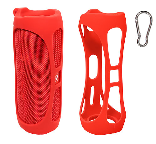 Silicone Bumper for JBL FLIP 5 Bluetooth Speaker (red)