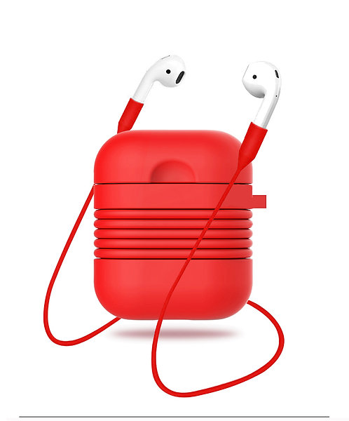 Airpod Case with Security Strap (Cherry Red)