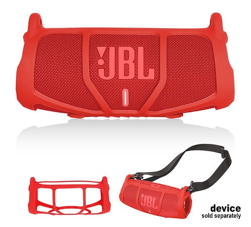 Silicone Bumper for JBL CHARGE 5 - Portable Bluetooth Speaker (red)