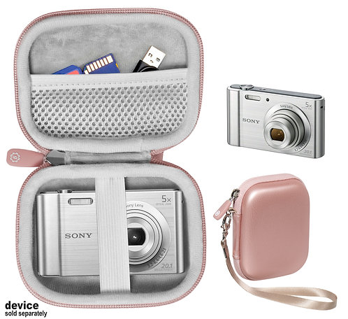 Protective case for Sony DSC-W800 Digital Camera (rose gold)