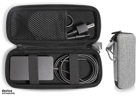 Protective Case for Microsoft Surface Charger (gray tweed)
